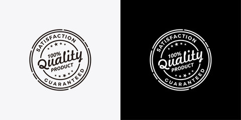 100% Guaranteed Quality Product Stamp logo design
