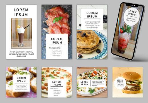 Minimalist Social Media Layout Kit for Food Lovers