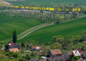 Lanes in the fields and vineyards Klentice