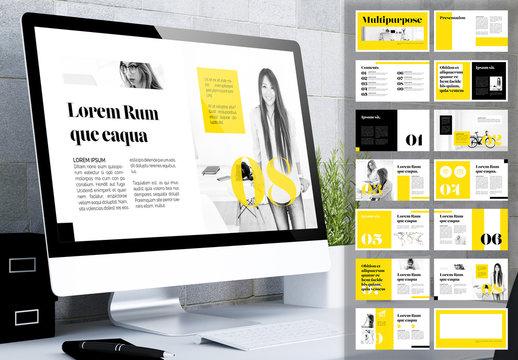 Yellow and Black Digital Magazine Layout
