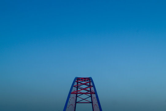 High Section Of Rollercoaster Against Clear Sky