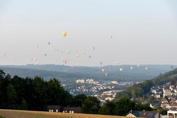 hot air ballon - colorful balloning