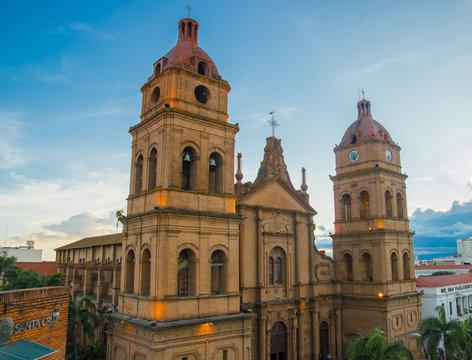 SANTA CRUZ, BOLIVIA - DECEMBER, 23, 2018: Old Town view, Santa Cruz de la Sierra, Bolivia.