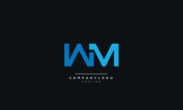 WM Letter Logo Design Icon Vector Symbol