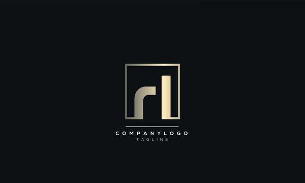 rl lr r l Letter Logo Design Icon Vector Symbol