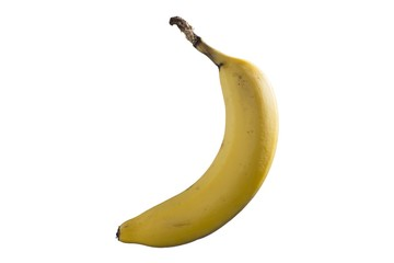 Isolated minimalistic picture of a banana