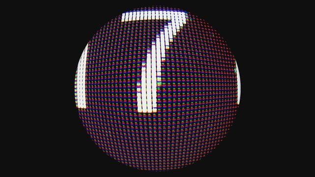 Close-up Of Illuminated Ball Against Black Background
