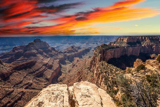 Grand Canyon landscape from North Rim, Arizona, USA