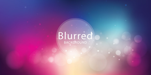 Abstract Colorful Defocused Lights Background Design Wall mural