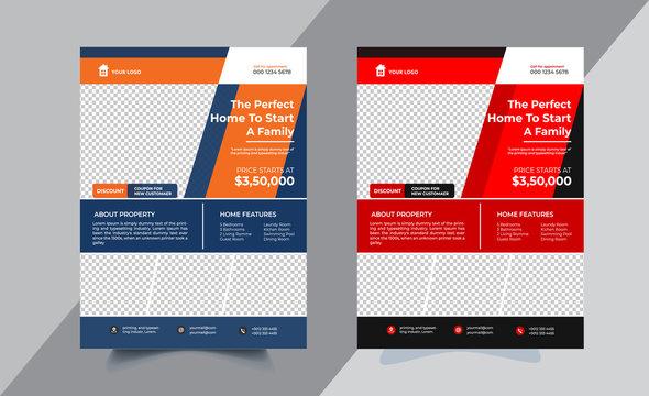 Real estate Flyer design Corporate business brochure or flyer design. Leaflet presentation