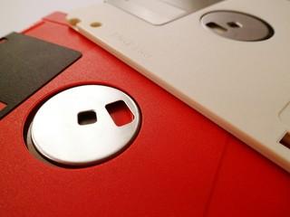 Detail Shot Of Floppy Disks