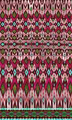 Fototapeten Katze Abstract traditional kat colorful design background