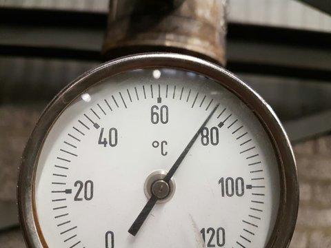 Close-up Of Temperature Guage