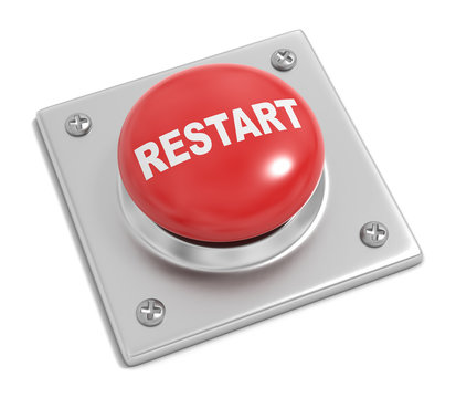 Restart Button on White