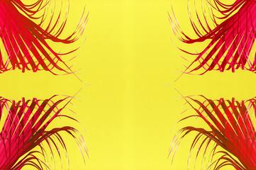 Fototapeten Gelb palm trees background