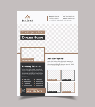 Creative Modern Real estate Flyer Design Template