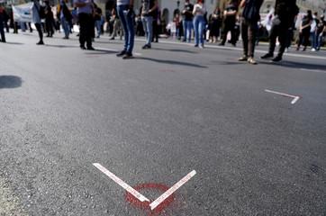 May Day rally following the coronavirus disease (COVID-19) outbreak, in Thessaloniki