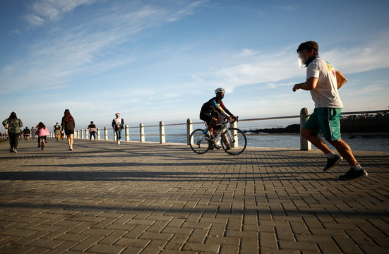 Joggers, walkers and cyclists take the chance to exercise as South Africa starts to relax some aspects of a stringent nationwide coronavirus disease (COVID-19)  lockdown  in Cape Town