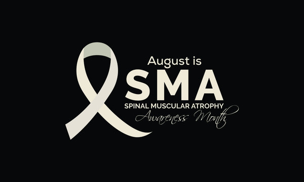 Vector illustration on the theme of Spinal Muscular Atrophy Awareness Month observed during August.
