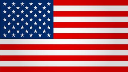 United states flag. Vector illustration. Fotobehang
