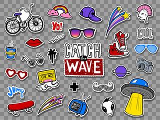 Obraz Hipsters cool stickers set - fototapety do salonu