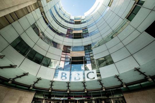 LONDON- British Broadcasting Corporation (BBC) headquarters building on Portland Place