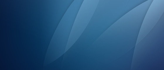 Foto auf AluDibond Fractal Wellen Abstract dark blue with soft light background wide dimension wallpapper