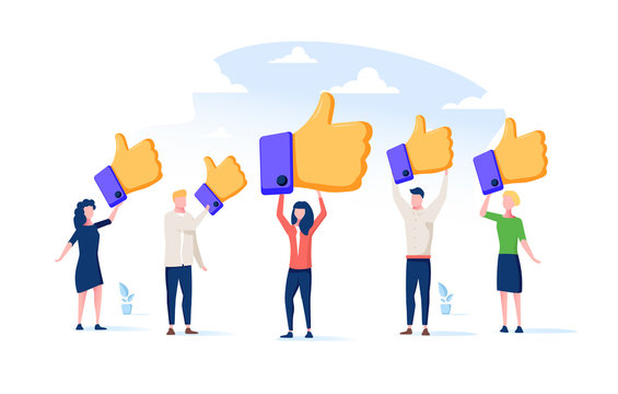 Customer review rating. People give review rating and feedback. Flat vector illustration. Customer choice. Know client