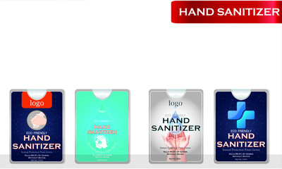 Wall Mural - Hand sanitizer label design vector graphic template for packaging design.