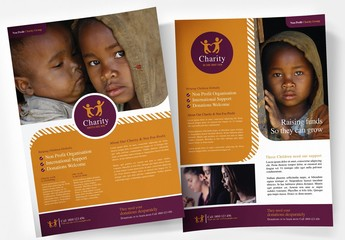 Simple Flyer Layout for Non Profit and Charity Services