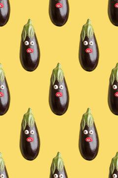 Eggplant infinite pattern