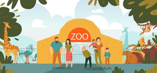 ZOO Entrance Cartoon