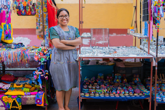 Young indegnous Mexican nahuatl entrepreneur