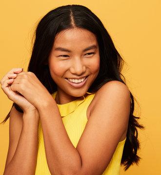 Amazing woman portrait smiling