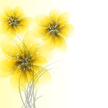 vector background with Flowers 942