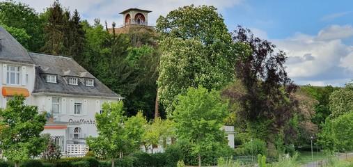Bad Kreuznach GERMANY - APRIL 29,. 2020 - .View of Bad Kreuznach City in Spring time