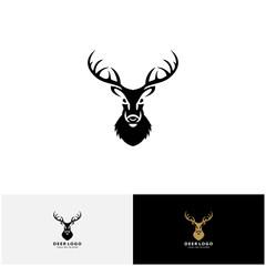 Awesome deer logo design vector