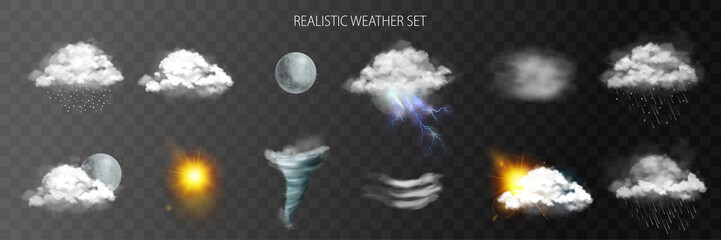 Realistic Weather Transparent Set