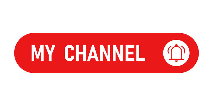Channel flat button, simple vector icon on white background.