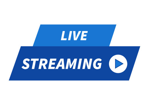 Live streaming flat vector banner, channel stream.