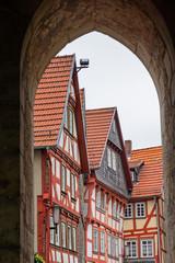 Fachwerkhäuser am Marktplatz von Alsfeld, Hessen
