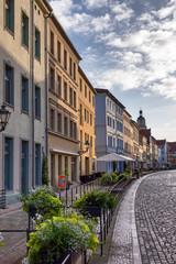 Häuserzeile in der Schlossstraße in der Lutherstadt Wittenberg, Sachsen-Anhalt