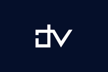 Initial based clean and minimal letter. DV logo creative and monogram icon symbol. Universal elegant luxury alphabet vector design