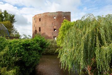 The exterior of the ruin castle Teylingen in Sassenheim in the Netherlands.