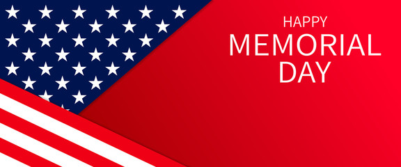 USA Memorial Day banner background Fotomurales
