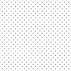 Seamless vector pattern with tile black hand drawn polka dots on white background