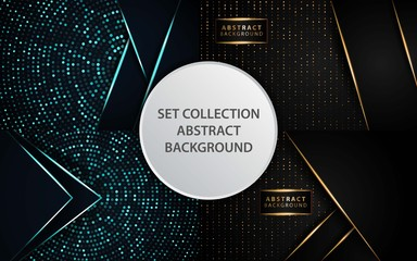 luxury premium black and gold vector background banner design,can be used in cover design, poster, flyer, book design, social media template background. website backgrounds or advertising. Wall mural