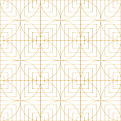 Beauty and fashion copcept luxury style, golden colored seamless wallpaper background. Vector design.