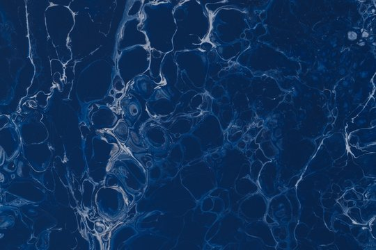Beautiful background in oily dark blue color - perfect for wallpapers