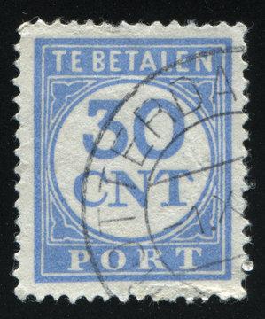 Netherlands retro stamp